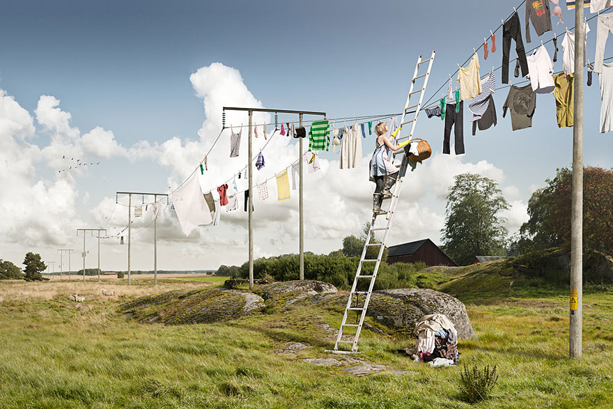 Big Laundry Day by Erik Johansson