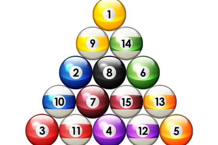 billiards balls brushes