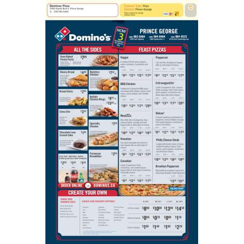 Medium Crop Of Dominos Menu Prices