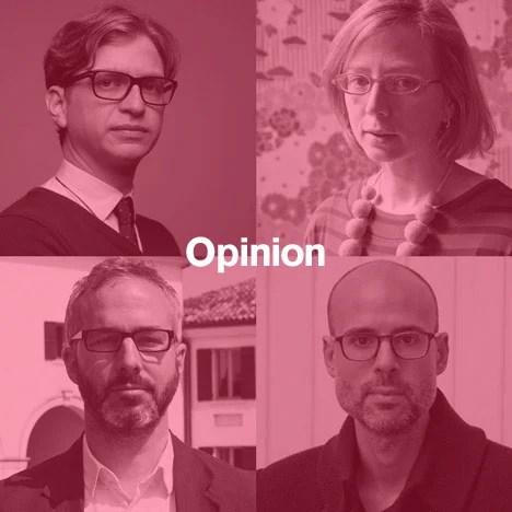 Dezeen's new Opinion columnists: Dan Hill, Alexandra Lange, Kieran Long and Justin McGuirk.