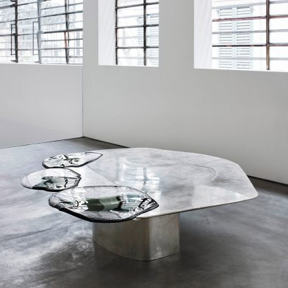 Table design   Dezeen Pools of metal and glass form Vincenzo De Cotiis  Baroquisme furniture