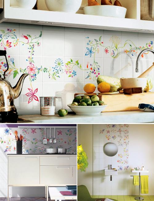 Tord Boontje Ceramic Tiles via The Style Files