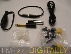 Shure E500 package contents