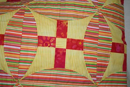 CU of quilt