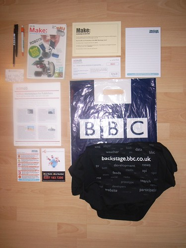 BBC Backstage Goody bag