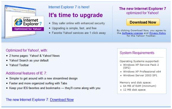 IE 7 - Yahoo!
