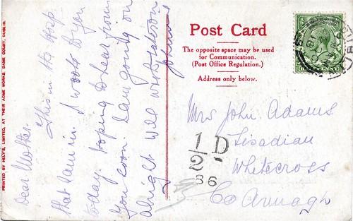 Postcard 26/10/1918