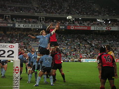 Waratahs contesting Crusaders lineout