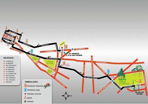 mapa ruta de las iglesias