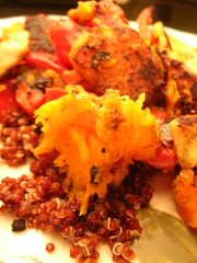 red quinoa and buternut squash