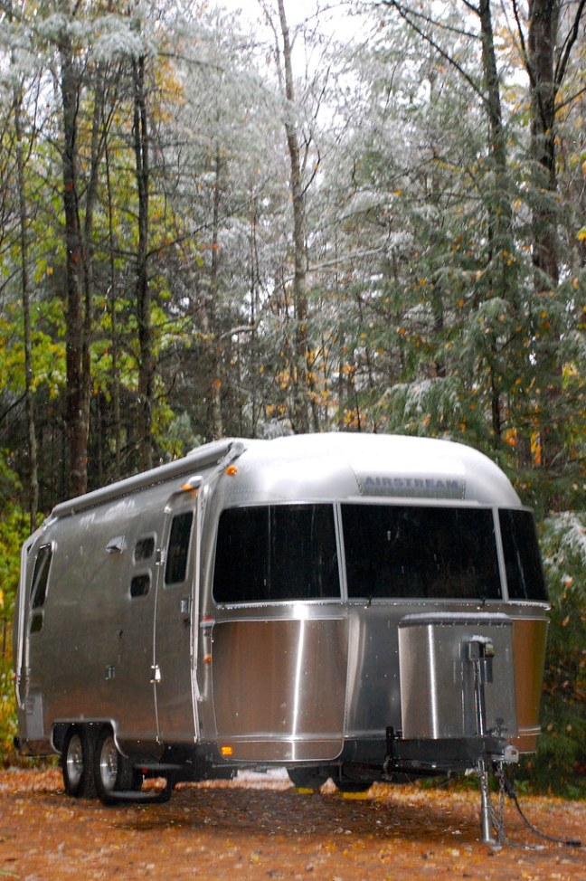 Snow + Airstream = Interesting