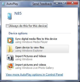 2009-01-22_1923 - N85 in PC Suite in Windows 7