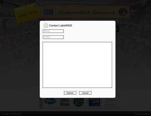 Contact page of label 9420