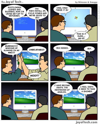 Joy of Tech - XP on a Mac