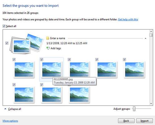 Windows 7 Photo Import