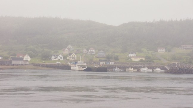 View of Tiverton from other side of the Petit Passage