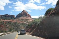 Road, red rocks