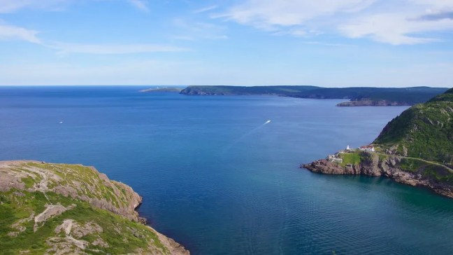 View of Cape Spear atop Signal Hill