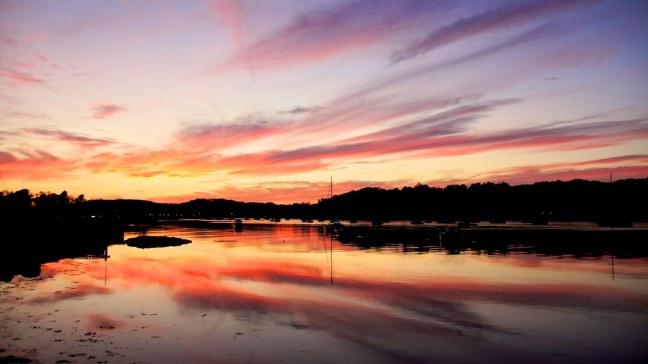 Sunset in Mahone Bay