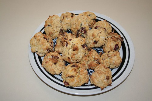 plate of rock buns