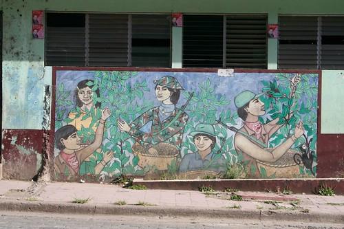 Communists love coffee, mural, jinotega