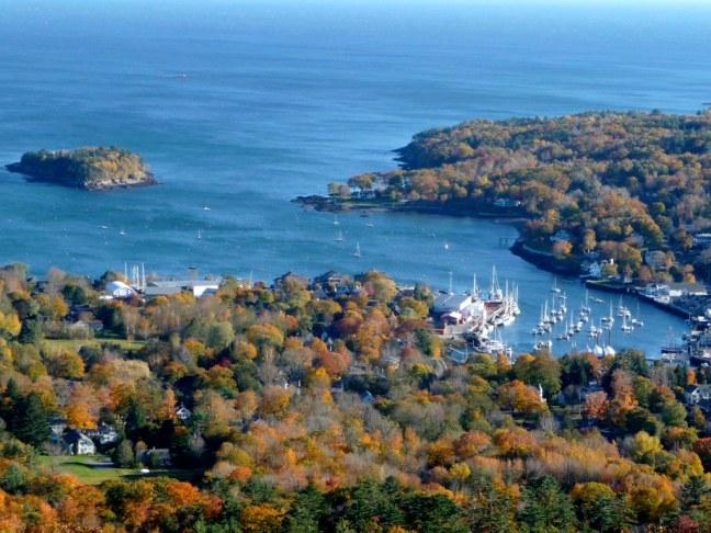 Camden, Maine from atop Mount Battie