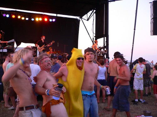 Banana Man posin' with Brothers Past in the background