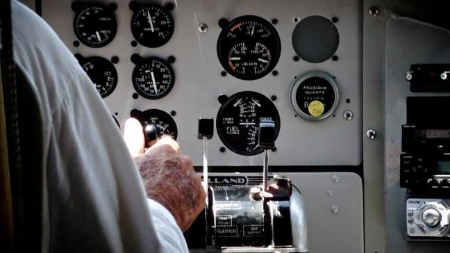 Cockpit of Otter seaplane