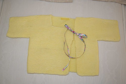 Finished baby sweater