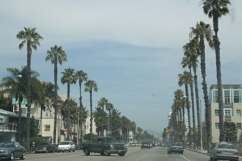 Santa Monica through a dirty windshield
