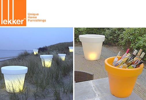 Bloom! Lighted Flower Pots from Lekker - SALE!
