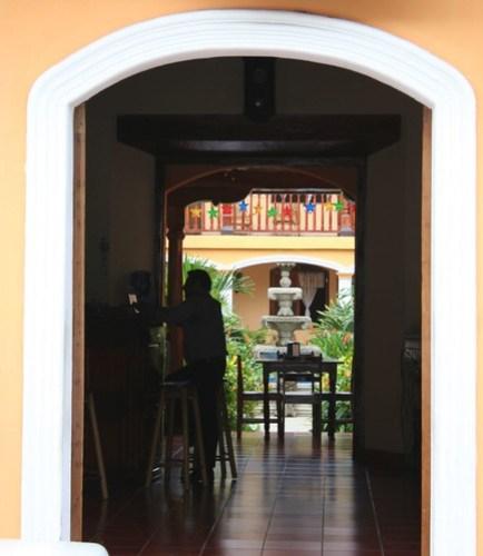 Hotel doorway, Granada
