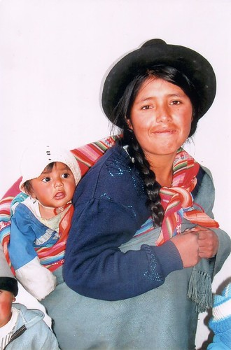 Bolivian mama and her baby