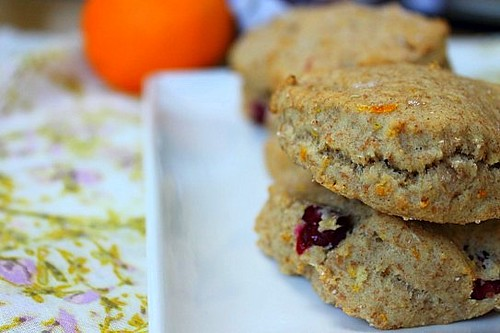 Vegan Cranberry and Orange Scones (8)