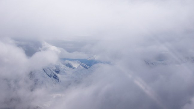 We flew through that hole in the clouds