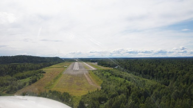 Landing on Runway 18 in Talkeetna