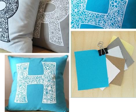 Myperennial - Initial Pillows at Rare Device!