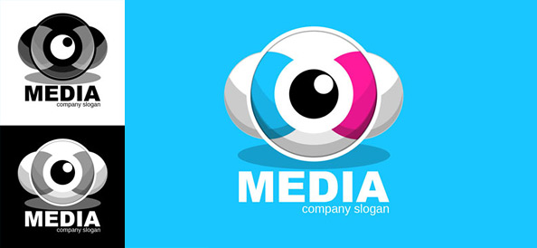 Media Logo Design Template