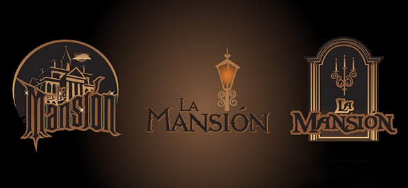 3 Mansion Logo Templates with Dark and Spooky Elements