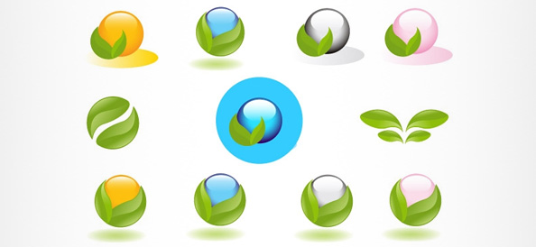 Eco Logo Designs with Sphere Shapes