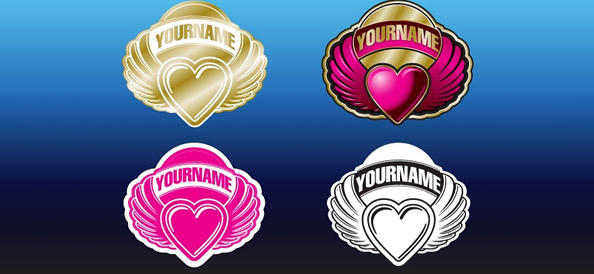 Heart Logo Designs for St.Valentine's Day