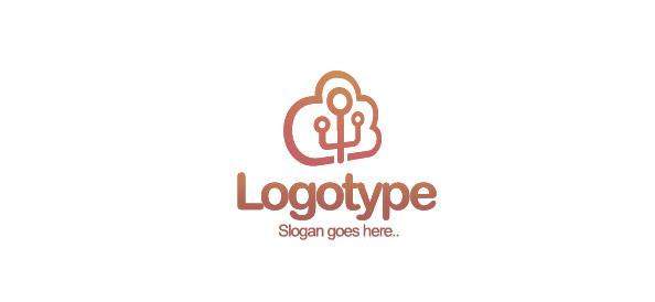 Cloud Logo Design Template
