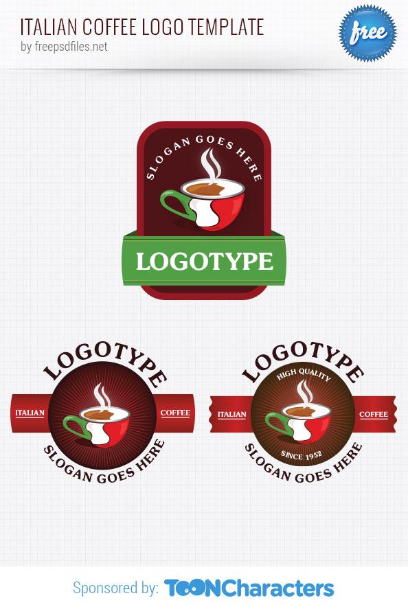 Italian Coffee Logo Template