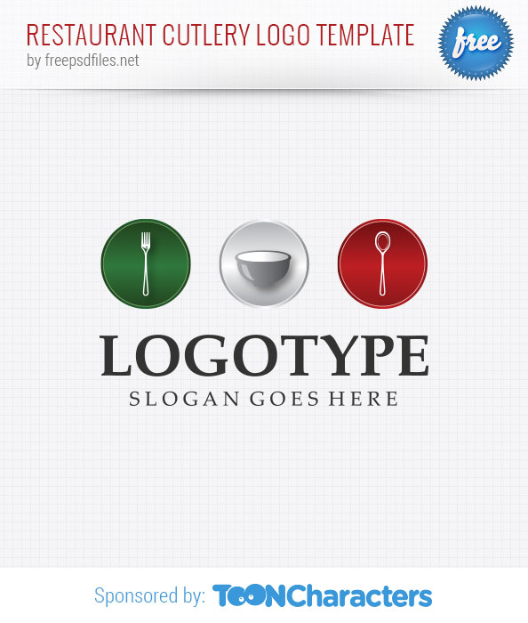 Restaurant cutlery logo template free design templates