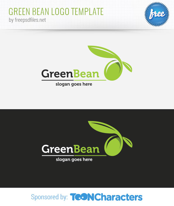 Green Bean Logo Template