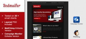Free Newsletter Template - Redmailer