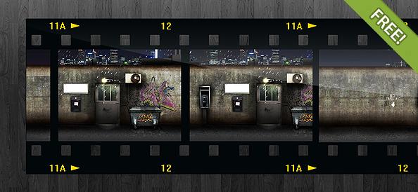 Free Filmstrip PSD