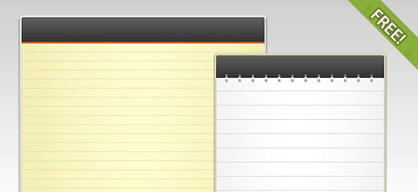 2 Free PSD Notepad Templates