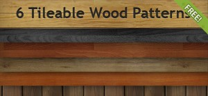 6 Free Tileable Wood Patterns