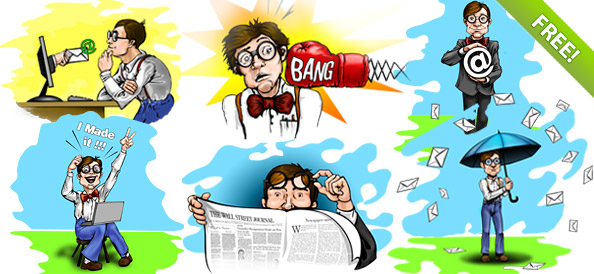 Nerd/geek Cartoon Characters